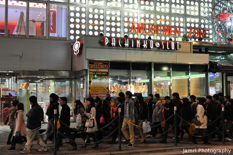 Still plenty of crowds in Osaka.<br /> But, very few foreigners around.
