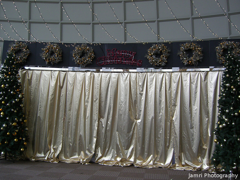 Christmas Stage.<br /> What's behind the golden curtain? I really don't know.