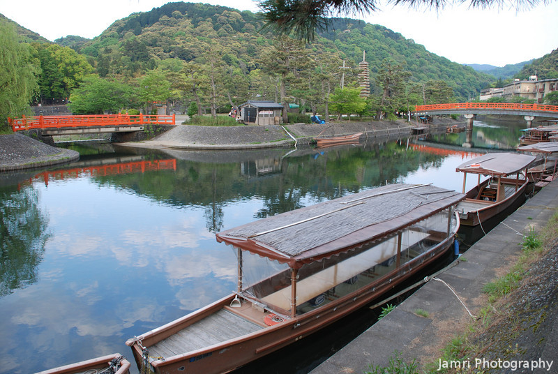 River Boats.<br /> In Uji, Kyoto-fu.