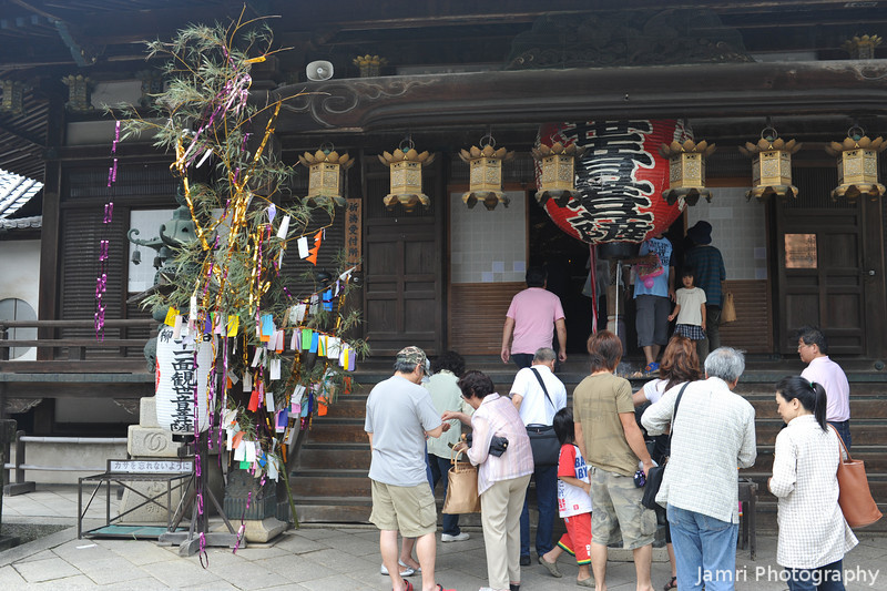 People Lining up to see the Kannon.<br /> Kannon is the idol in this temple, I didn't bother waiting in line to have a look, more interested in photographing flowers.