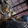 Two Buddhas.<br /> At Todai-ji in Nara