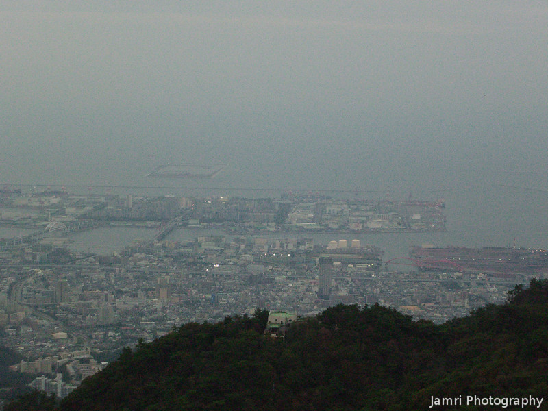 Misty View from Mt. Rokko.<br /> The final part of my visit to Kobe was to go up Mt. Rokko were it was cold! I'm glad I brought my jacket with me, ended up being stuck up there for a little while too, waiting for the cable car down.