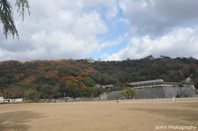 Towards the different sections of Matsuyama Castle.