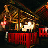 A Ghost at Nonomiya Shrine!<br /> A long exposure makes it look like the worshipper is a ghost.<br /> Note: Film Shot, Nikon F80 + 24f/2.8mm + Fujicolor PRO400