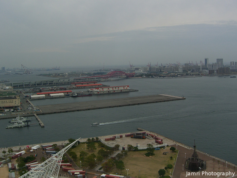 Towards Rokko Island.<br /> From the Kobe Port Tower.