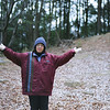 Happy New Year!<br /> Ritsuko on Mt. Tennozan early in the morning on New Years Day. Yes there's a bit of snow on the ground. There was a light snowfall on our walk up the mountain.<br /> Note Film Shot: Nikon F80 + Nikkor 50 f/1.8 + Fujicolor PRO400