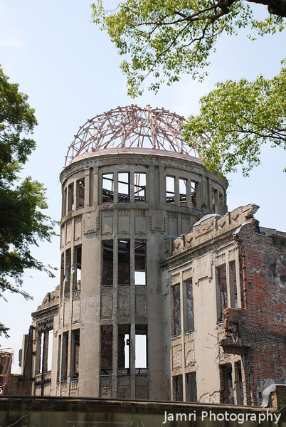All is quiet.<br /> At the Peace Dome in Hiroshima.