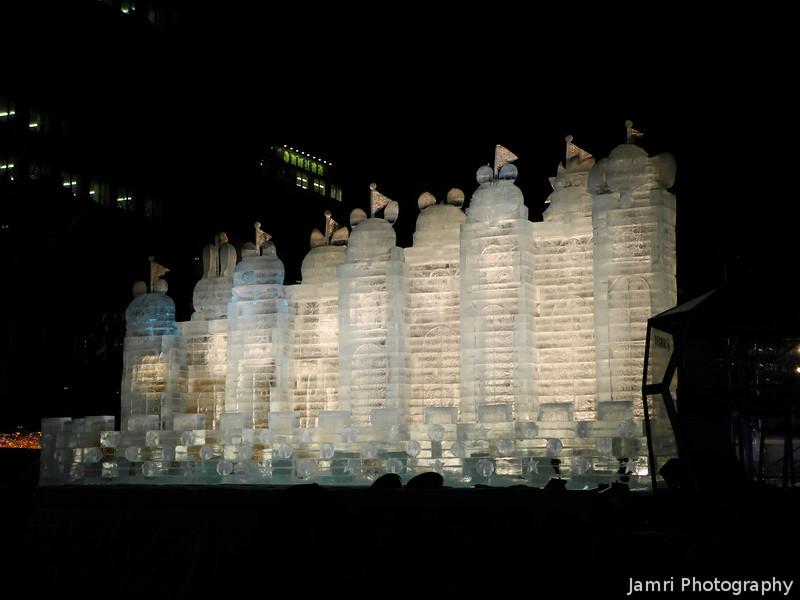 Ice Castle.<br /> At the Sapporo Snow Festival (Yuki Matsuri).