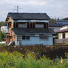 An Old Weather-worn House.<br /> This part of Nagaokakyo is one of my favourite places to take a walk a long the river.