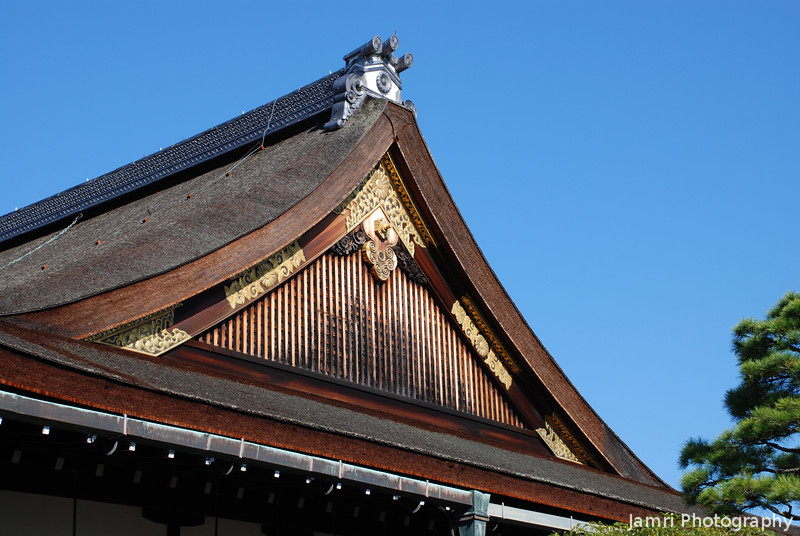 Palace Roof<br /> Detail of the roof of one of the buildings at the Kyoto Imperial Palace
