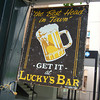 Lucky's Bar.<br /> Sometimes they need to check things for double meanings...