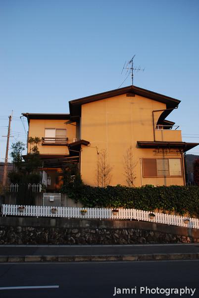 Golden Lit House.