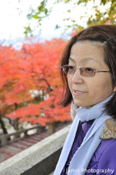 Autumn Portrait.<br /> Of Ritsuko at Kiyomizu Temple.