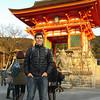 Dave outside Kiyomizu-dera.