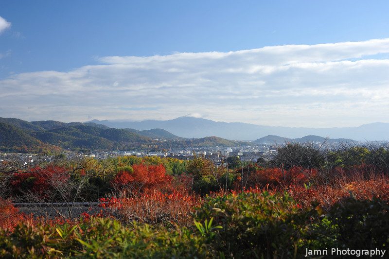 The view towards Mt. Hiei from Okochi Sanso.