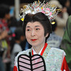 Lady wearing a tiara.<br /> Part of the 2011 Garasha Matsuri Parade, in Nagaokakyo.