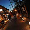 A quiet evening in Kyoto.<br /> During the 2011 Higashiyama Hanatouro (flower light path).