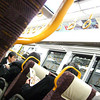 On the Train.<br /> Another shot of this train with a different than usual interior.