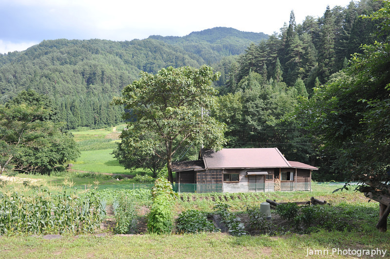 The view from the main building.<br /> At Aburamu no sato (Abram's place) near Hida Furukawa, Gifu Prefecture, Japan.