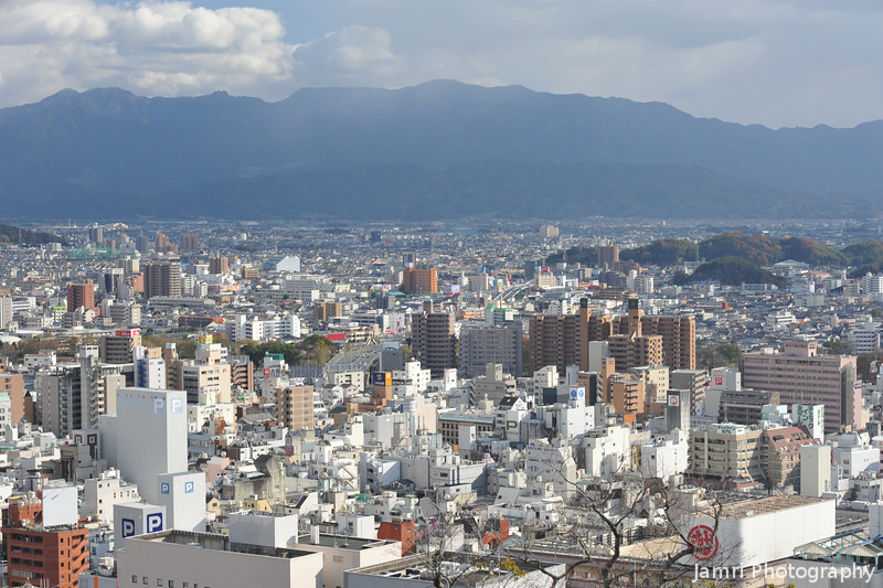 Another view of the City.<br /> From Matsuyama Castle Grounds.