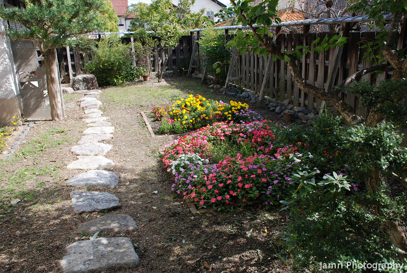 """Vories' Garden.<br /> The garden and yard at the house were """"tent making"""" missionary William Merrell Vories lived... Brings back memories of similar gardens in Australia."""