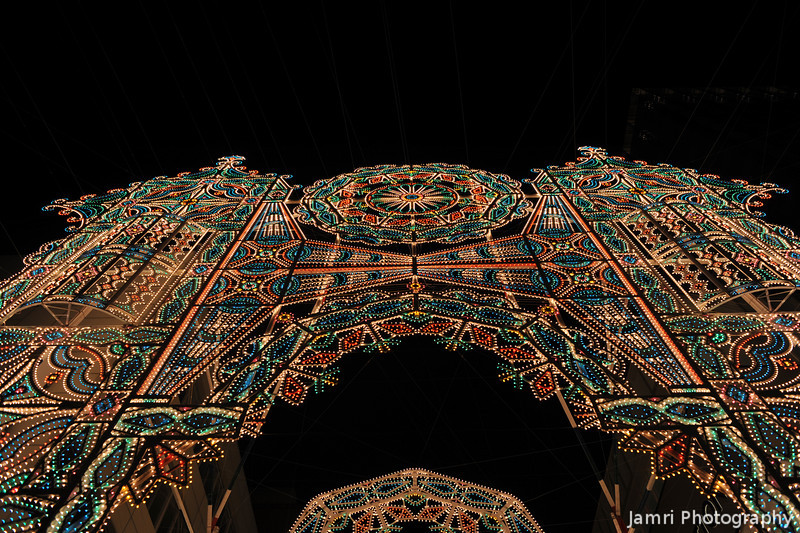 Passing under the first Arch.<br /> At Kobe Luminarie 2011.