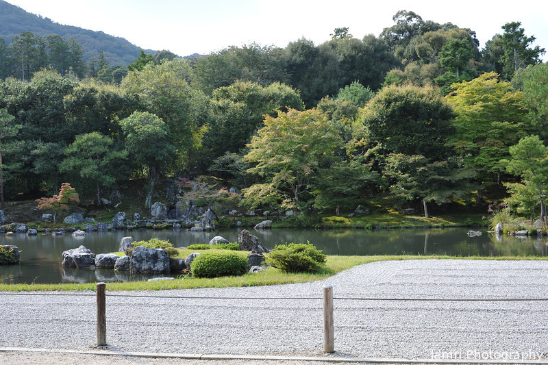 The view of the Garden.<br /> Of Tenryu-ji. This Zen garden is on the UNESCO world heritage list.