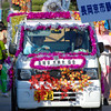 Strangely Decorated Car.<br /> During the Garasha Matsuri Parade.