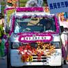 Strangely Decorated Car.<br /> During the Garasha Matsuri Parade.