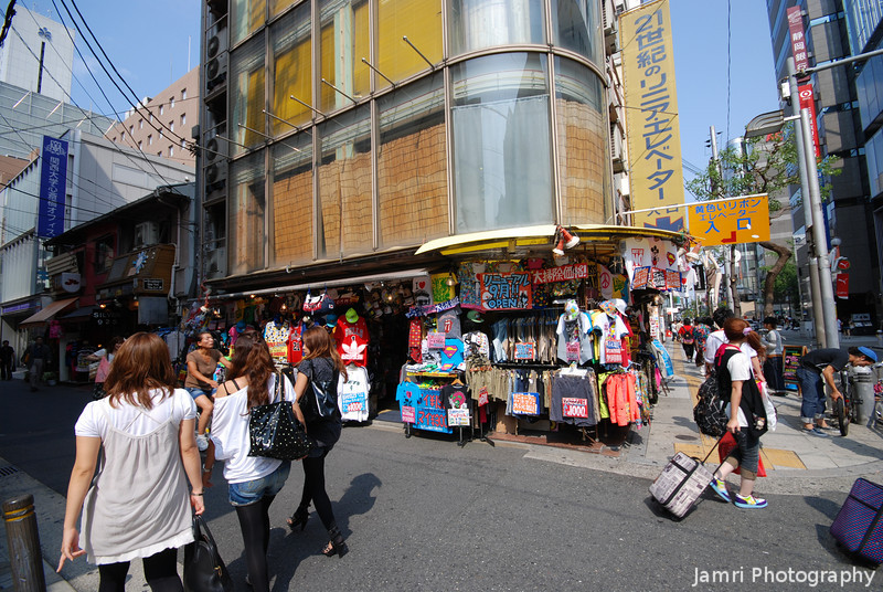 At the Corner.<br /> Street life in Amerika-mura, Osaka.