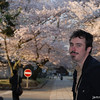 Me with Golden lit Sakura.<br /> Pausing for a portrait while the last rays of the Sun touch on the Sakura.<br /> Photo by Ritsuko