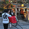 Posing for a photo.<br /> Outside Tatsumi Shrine.<br /> BTW This Shrine is a good place to spot Geisha.