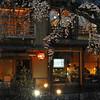 Restaurants Through the Sakuras.<br /> In Shirakawa, Gion, Kyoto.