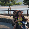 Hai Posu!<br /> A couple of friendly girls at Miyajima Island.