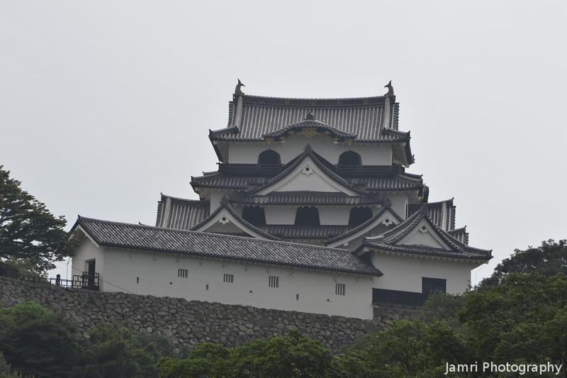 Hikone-jo from Genkyu-en.<br /> Hikone Castle from Genkyu Garden.