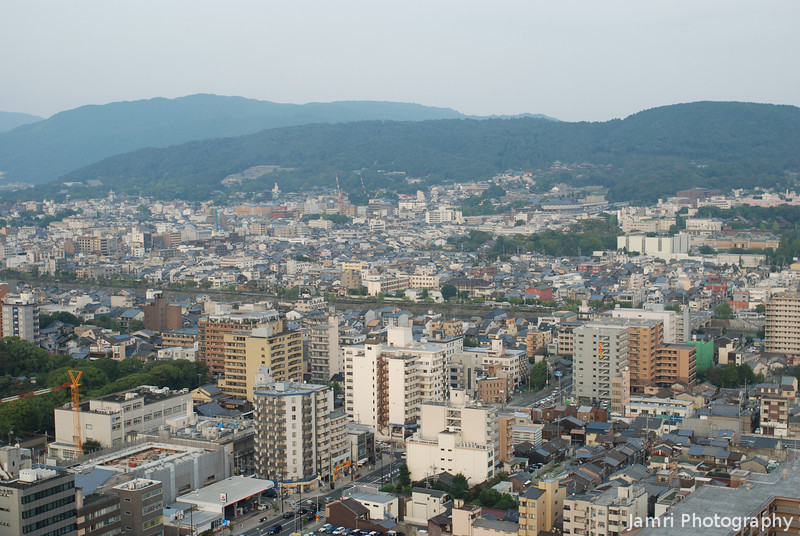View to the North East.<br /> From the Kyoto Tower.