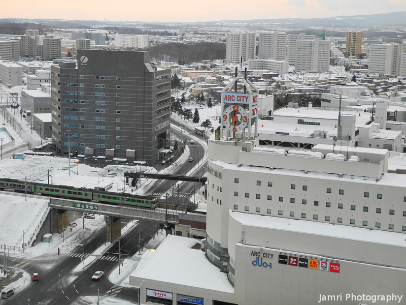 Towards Shinsapporo Station in the Morning.