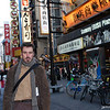 Outside Sammy Ebisu Plaza<br /> I pause for a photo in Dotonbori.<br /> Photo by Ritsuko.