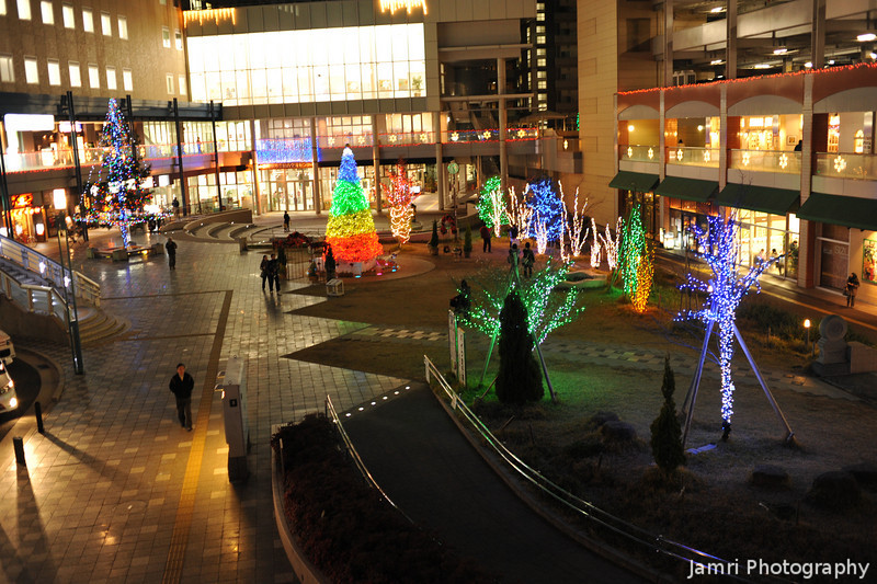 A View of Most of the Festive Lighting.