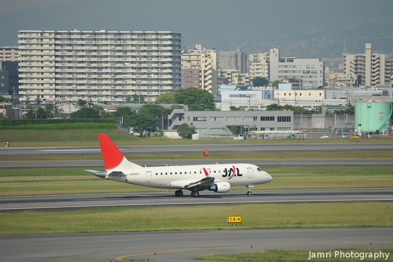 JAL (J-Air) Embraer 170 on the take off roll.