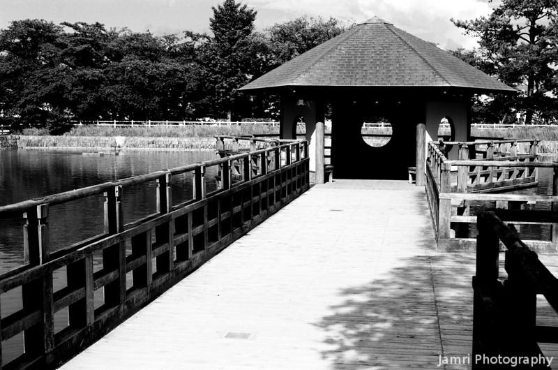 The Gazebo.<br /> At Nagaoka Tenmangu Shrine Park.<br /> Note Film Shot: Nikon F80 + 50f/1.8 + Orange Filter + Fujifilm Neopan Acros