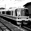 JR Train Approaching Saga Arashiyama Station.<br /> Note Film Shot: Nikon F80 + 50f/1.8 + Orange Filter + Fujifilm Neopan Acros