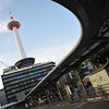 Kyoto Tower from Under the Bus Stand.