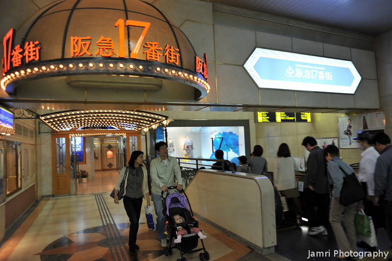 Out and Down.<br /> In Hankyu Umeda Station.