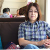 Ritsuko at Hermit Green Cafe.<br /> Oyamazaki town, Kyoto-fu, Japan.
