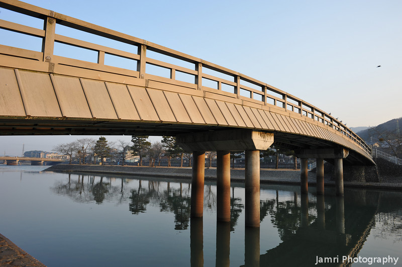 "Footbridge in Golden Light. Uji City, Kyoto Prefecture, Japan. Please see my <A href=""http://jamri.smugmug.com/Non-Commercial/Not-for-Sale/16110337_9o6CM#1209534586_Ettgw"">""Not for Sale"" gallery</A> for the photos of Byodoin Temple."