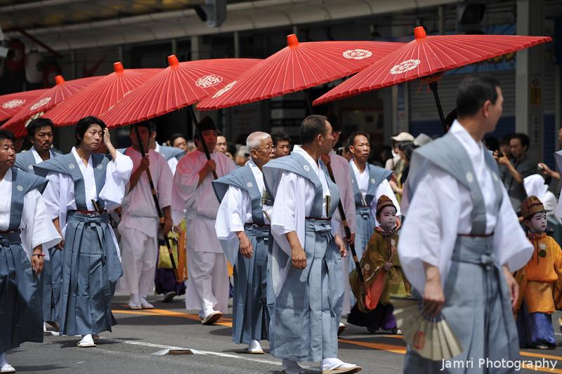 The Red Umbrella Parade.