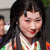 "Garasha a closer shot.<br /> A Photo of a Lady playing the main character Garasha in the Garasha Matsuri parade. The Garasha Matsuri honours Hosokawa Gracia (aka ""Garasha"") the wife of a local Lord one of Nagaokakyo's first Christians. Which just happened to be on the same day as we celebrated our 1st anniversary of living in Japan."