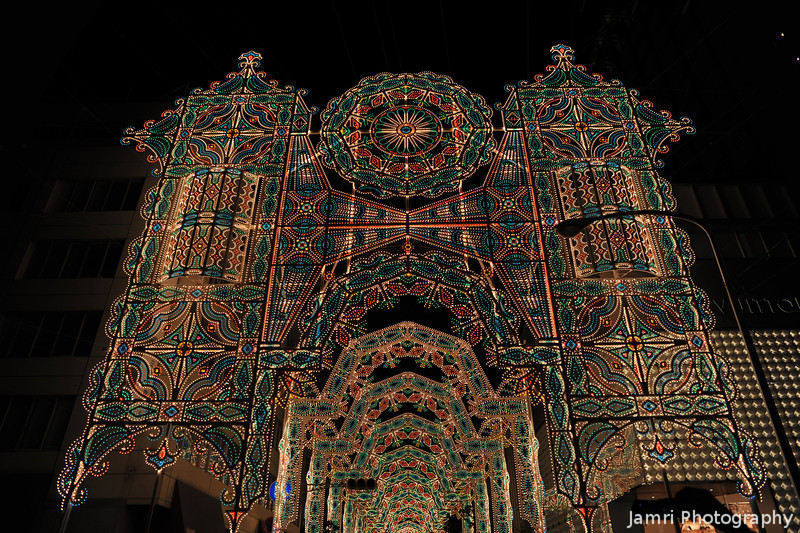 The Tunnel of Lights.<br /> The 2011 Kobe Luminarie Festival.