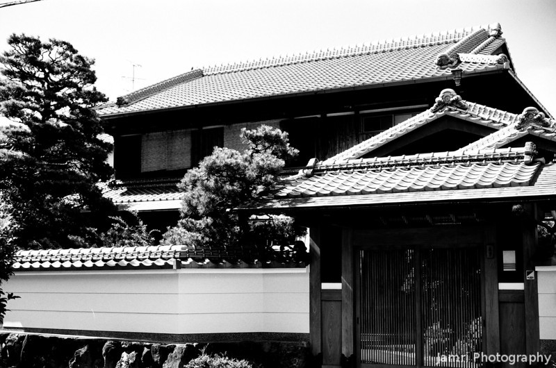 Suburban Temple.<br /> A Buddhist Temple in the back streets of Nagaokakyo.<br /> The first of my special B&W Film Summer Project.<br /> Note Film Shot: Nikon F80 + 50f/1.8 + Orange Filter + Fujifilm Neopan Acros